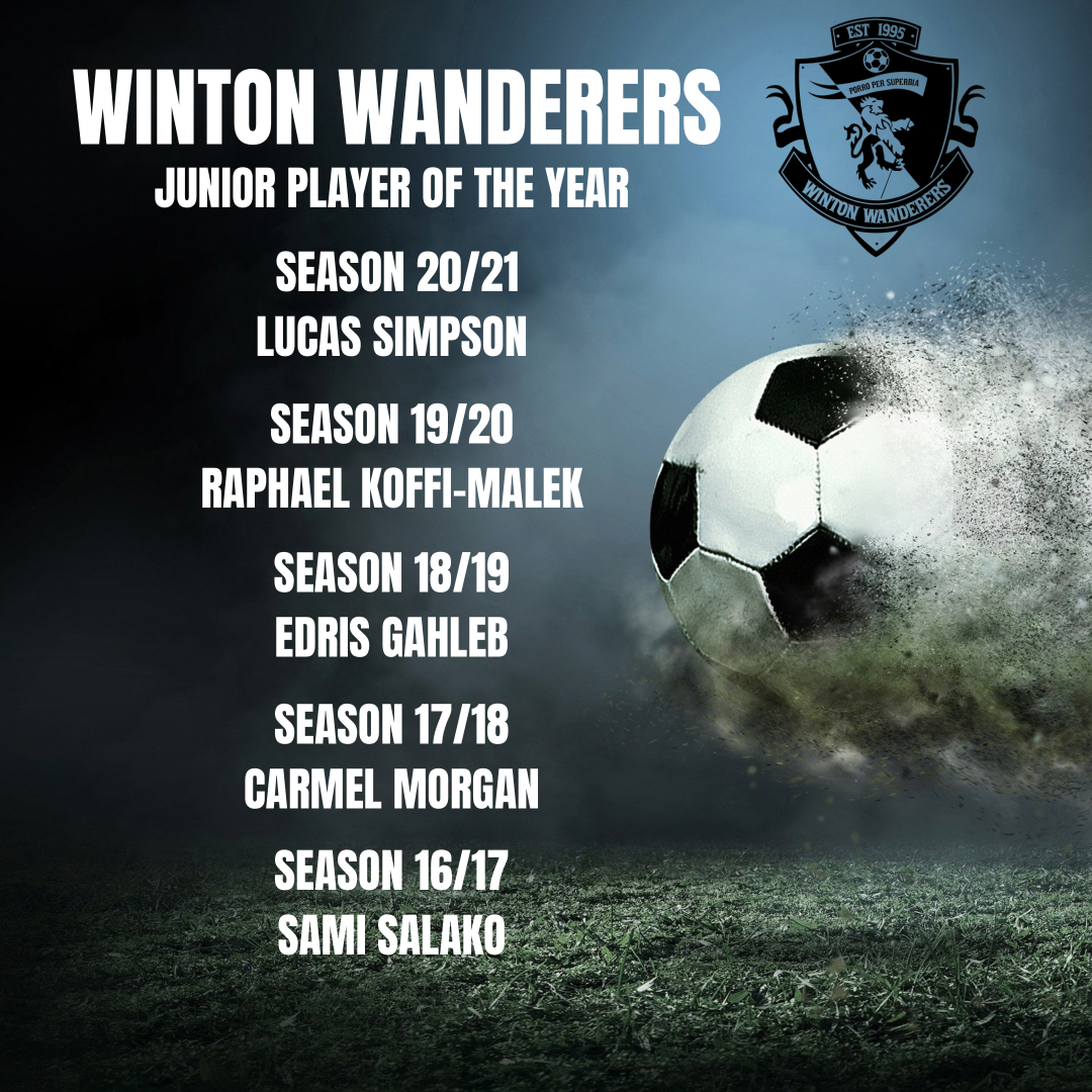 Junior Player of the year